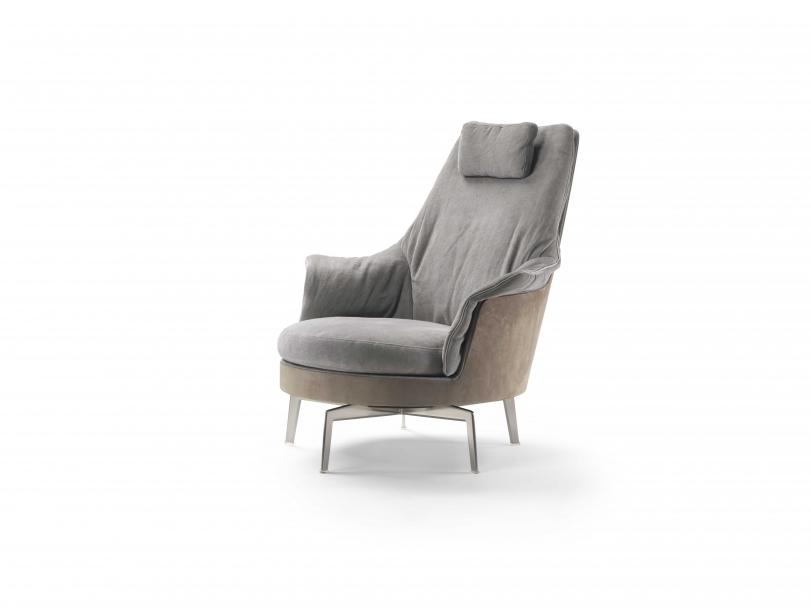 海居汇 意大利 Flexform Guscioalto Light 扶手椅 海外代购 欧洲代购